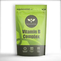 VITAMIN B COMPLEX TABLETS 400MG 180 HIGH STRENGTH TABLETS FREE P&P