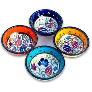 Small Ceramic Bowls Set of 4 for Snack,Tapas, Dessert, Nuts, Olive, Soy Sauce