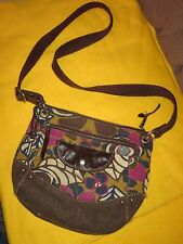 Fossil Liberty Canvas & Leather Crossbody Shoulder Bag ZB4179