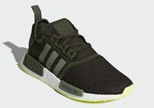 Adidas NMD R1 Casual Shoes Night Cargo / Base Green Sz 12 CQ2414