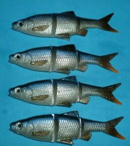 NEW Savage Gear 10cm 4pcs 3D Roach Swim N Jerk soft lure bodies bargains