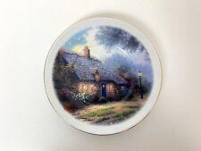 "Thomas Kinkade Decorative 6"" Saucer Plate Teleflora Gift Moonlight Cottage"