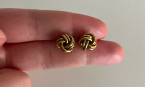 Beautiful Solid 9ct Gold Knot Earrings - 2.8 Grams - RRP: $399!