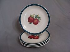 4 Casuals By China Pearl Salad Plates, Apple Pattern