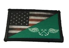 Navy Green Shirt Boatswain's Mate Morale Patch Tactical Military Army Flag USA