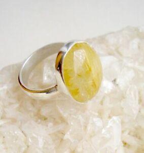Ring mit Rutilquarz, 925er Silber, Gr. 17,2 - Rutil - Ringschiene offen - Quarz
