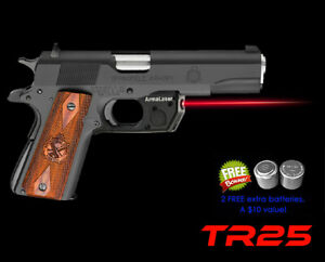 TR25 Red Arma Laser for Full Springfield, Kimber 1911, Ruger & Taurus Commander