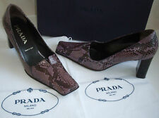 PRADA Italian Vintage Purple Python Court Shoes Italy Size UK 3.5 EU 36.5 US 6.5