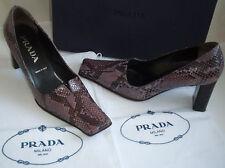 PRADA italien Vintage Violet Python Cour Chaussures Italie Taille UK 3.5 EU 36.5 US 6.5