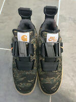 Nike x Carhartt WIP Air Force 1 Utility Low Trainers Camo, Tiger Laurel, Orange