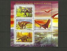 ROMANIA SGMS6493  DINOSAURS MINISHEET MNH