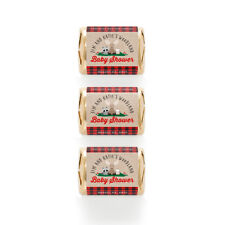 30 Lumberjack Forest Animals Raccoon Owl Baby Shower Personalized Nugget Labels