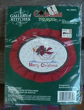 COUNTED CROSS STITCH HOOP DISPLAY STAND CHRISTMAS SNOW GOOSE KIT #32974 SEALED