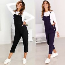 Women Sleeveless Dungarees Overall Playsuit Jumpsuit Romper Pants Trousers Lot