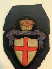 The Royal Society Of St. George Patch Badge