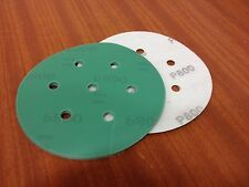 "P600 velcro abrasive discs   150mm 7 hole  Pack (15)    6"" Sanding Film Pads"