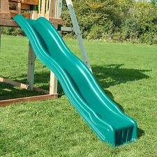 Swing Set Slide Wave Outdoor Kids Play Backyard Playground Playset Plastic Green