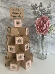 Advent Calendar Handmade Christmas Personalised Complete or Kit Form