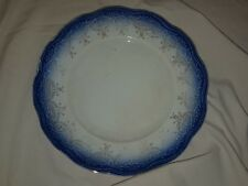 "Colonial Co. China Flow Blue Iron Stone 9"" Plate Antique"