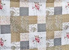 Tagesdecke 140x200 Patchwork Quilt Rose Landhaus Romantik Plaid Decke Überwurf