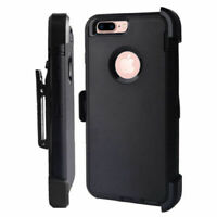 Case For iPhone 7 & iPhone 8 With Screen & (Clip Fits Defender) Black
