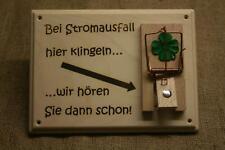 Türschild  Klingelschild Mausefalle Scherz, Geschenk, Holz Klingel, 19x15 cm neu