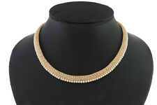 Cubic Zirconia Pearl Exclusive Designer Only Chain Necklace NK WH 195