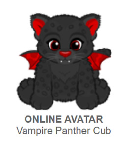 Webkinz Classic Vampire Panther Cub *Code Only*