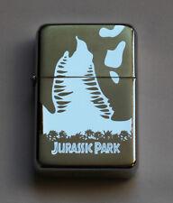 JURASSIC PARK -  chrome petrol lighter ---------- [Cd:042.mc-40-lP.] mini poster