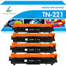 4PK TN221 Black Toner Compatible for Brother TN225 MFC-9130CW 9330CDW 9340CDW