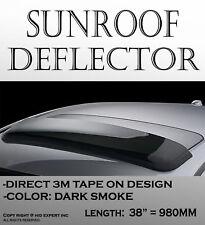 980mm Smoke Sun/Moon Roof Top Window Sunroof Tint Visor Vent Wind Deflector D36
