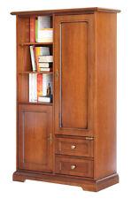 Armadietto in legno 2 porte e 2 cassetti, come piccola libreria o ripostiglio