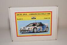ZZ 1:24 REJI MODEL RESIN KIT FORD 200 RS 200RS LOMBARD RAC RALLY 1986 MIB RARE