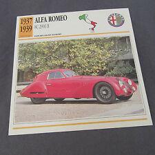 476C Edito Service Fiche Dépliant Alfa Romeo 8C 2900 B 1937