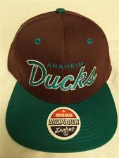 New Anaheim Mighty Ducks Mens Size OSFA Snapback Flatbrim Zephyr Cap Hat