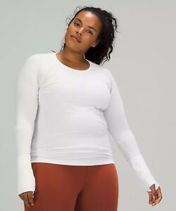 NWT authentic lululemon Swiftly Tech Long Sleeve Shirt 2.0 in White SiZe 6