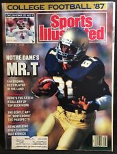 Sports Illustrated Magazine August 31, 1987 Tim Brown Notre Dame Cover