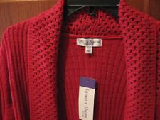 WOMENS SWEATER SIZE 3X  FAN BACK LONG CHRISTMAS RED HOLIDAY SWEATER RETAIL$54.00