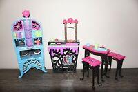 Monster High Creepateria Beast Bites Cafe Playset bundle job lot set furniture