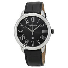 Guy Laroche Black Dial Mens Leather Watch G1010-01