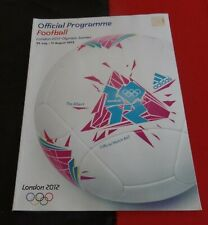 2012 London Olympic Games Official Football Programme comes with 2 match tickets
