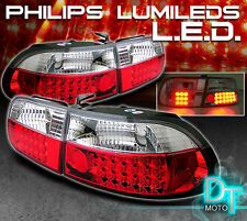1992-1995 Honda Civic 3Dr Lumileds LED Red Clear Tail Lights Lamps Left+Right