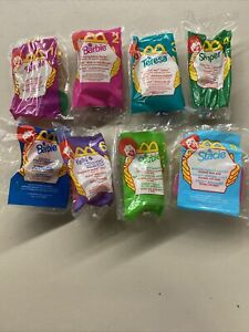1999 McDonalds Barbie Happy Meal Toys Complete Set of 8 Sealed  - Happy Meal Bag