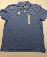 NEW St. Johns Bay Legacy Polo Shirt Short Sleeve Men's XL Cotton Blue
