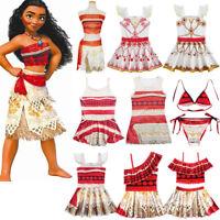 Kids Moana Hawaiian Princess Girls Party Cosplay Fancy Dress Costume Swimwear US