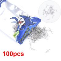 100Pcs/bag Fishing lure 14mm Fishing Spiral Fishing Bait Steel Fishing Sprin HO