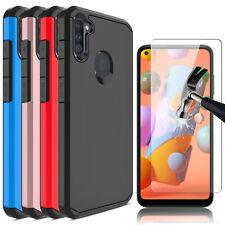 For Samsung Galaxy A21 / A11 Case Shockproof Armor Phone Cover/Screen Protector