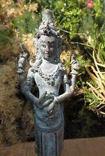 Standing Avalokiteshvara 4 arms Bodhisattva lost wax casting Lotus Base Quan Yin