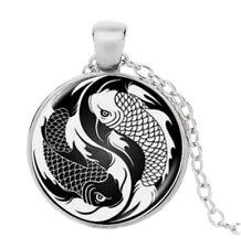Collana Ciondolo Pesci Zodiacale Stile Yin & Yang