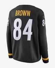 Men's Pittsburgh Steelers Antonio Brown Therma Long Sleeves Jersey Top XX-Large